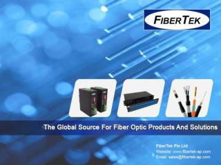 An Introductory Guide to Fiber Optic Products