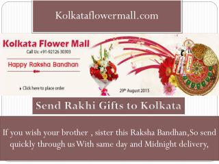 Send Rakhi gifts to Kolkata