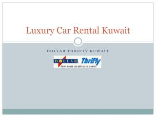 Luxury Car Rental Kuwait