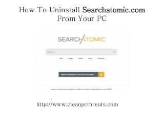 Tips to Remove Searchatomic.com from PC