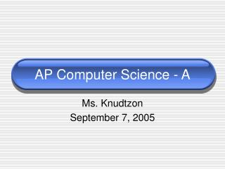 AP Computer Science - A