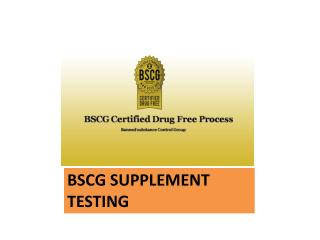 Safe Supplement Testing Services