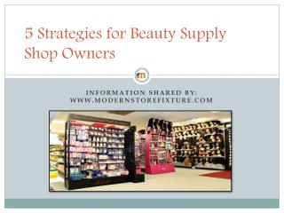 Strategies for Beauty Supply Shop Owners