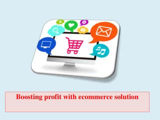 Boosting profit with ecommerce solution