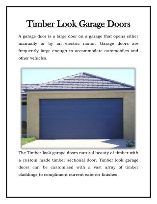 Timber Look Garage Doors