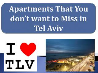 Apartments to live in tel aviv