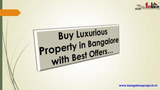 Luxury Apartments in Bangalore, Property in Bangalore