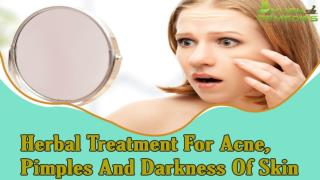 Herbal Treatment For Acne, Pimples And Darkness Of Skin