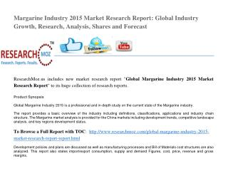 Global Margarine Industry 2015 Market Research Report
