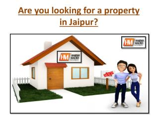 Are you looking for a property in Jaipur?