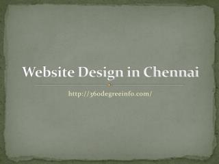 Website Design in chennai,
