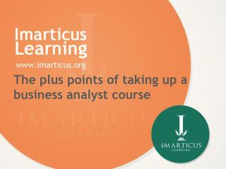 The plus points of taking up a business analyst course