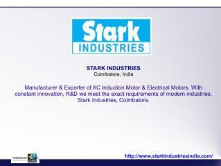 AC Induction Motor Manufacturer in Coimbatore, Electrical Motors Exporter