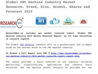 Global CNC Machine Industry 2015 Market Research Report