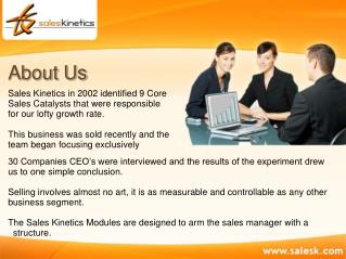Sales Kinetics - Sales Management Consulting Firm