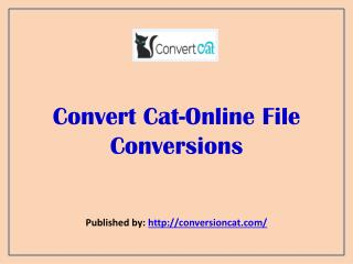 Online File Conversions
