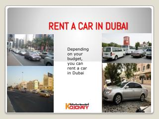 Rent a car in Dubai