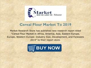 Cereal Flour Market in Africa, America, Asia, Eastern Europe, Europe, Western Europe : Industry Size, Development, and F