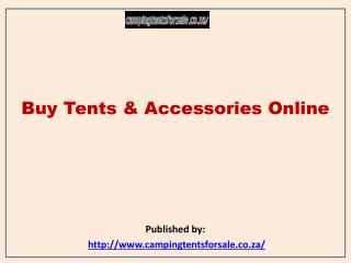 Buy Tents & Accessories Online