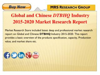 Global and Chinese DTBHQ (CAS 88-58-4) Industry 2015 : Market Analysis, Share, Analysis, Overview, Growth, Trends and Op
