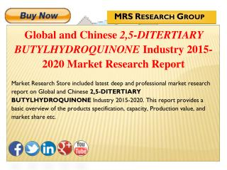 Global and Chinese 2,5-ditertiary butylhydroquinone (CAS 88-58-4) Industry 2015 : Market Analysis, Share, Analysis, Over