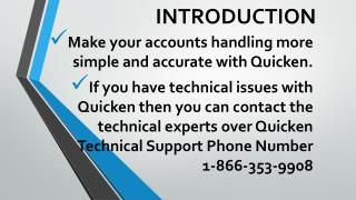 Quicken Tech Support Number helps you to solve your all technical issues