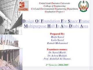 United Arab Emirates University College of Engineering Civil and Environmental Engineering Department Graduation Project
