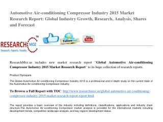 Global Automotive Air-conditioning Compressor Industry 2015 Market Research Report