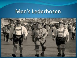 Men's Lederhosen