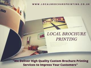 Promote your business with Local Brochure Printing Services
