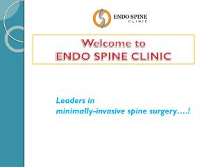 Endo Spine Clinic | back pain doctors in pune,best back pain doctors in pune,back pain specialist in pune,spine surgeons