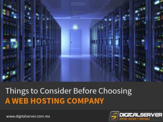Web Hosting Company in Mexico - Tips to Choose!