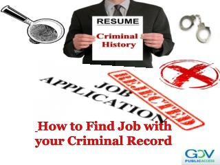 How to Find Job with your Criminal Record