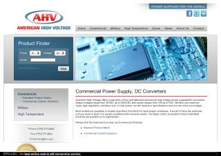 Commercial Power Supplies From AHV