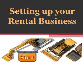 Setting up your Rental Business