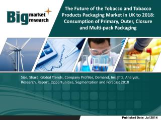 The Future of the Tobacco and Tobacco Products Packaging Market in UK to 2018: Consumption of Primary, Outer, Closure an