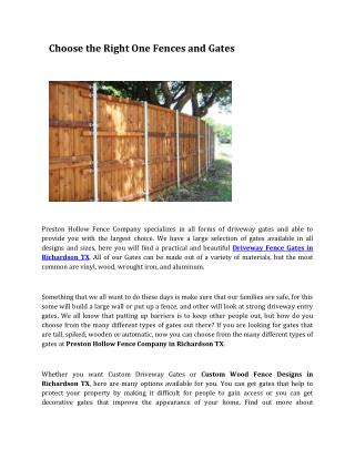 Automatic Gate For Driveway Garland TX