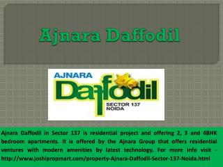 Luxury 2,3,4 BHK apartments in Ajnara Daffodil @9560187799