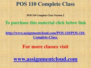POS 110 Complete Class
