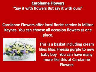 Local Florist Service in Milton Keynes.
