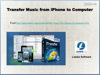 Transfer Music from iPhone to Computer