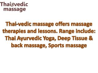Massage Therapies and Lessons.
