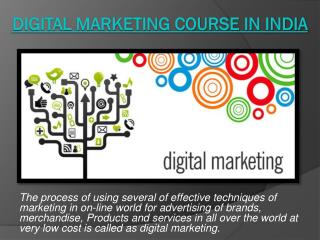Digital marketing course in India