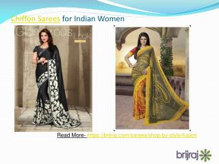 Chiffon sarees for indian women