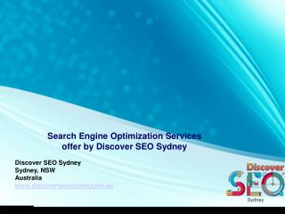 Search Engine Optimization Services  offer by Discover SEO Sydney