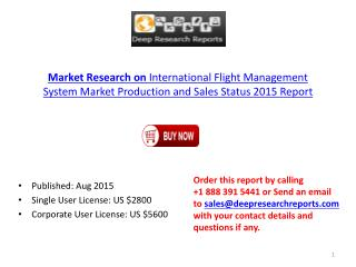Flight Management System Market Overview Report 2015