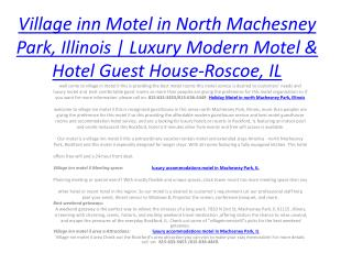 Village inn Motel in North Machesney Park, Illinois
