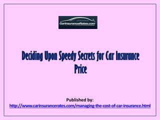 Managing Car Insurance Prices