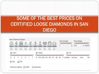 SOME OF THE BEST PRICES ON CERTIFIED LOOSE DIAMONDS IN SAN DIEGO