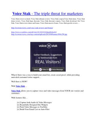 VoiceStack review-$26,800 bonus & discount